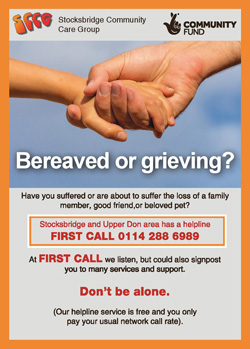 Bereaved or grieving